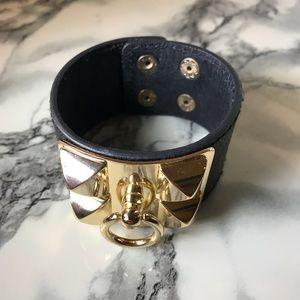 Jewelry - Black & Gold Cuff Bracelet